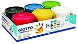 Giotto 5350 00 - Dita Fingermalfarben - Set mit 6 Farben, 200 ml