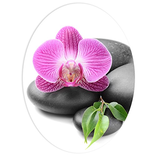 WANDKINGS WC Sticker Orchidee Deckel Aufkleber 30 x 40 cm