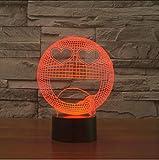 Zlxzlx 7 Farben Schlaf Beleuchtung 3D Tischlampe Sternauge Glücklich Q Sabbern Lächeln Gesichtsausdruck Nachtlichter Für Dekor Schlafzimmer Kinder Geschenke