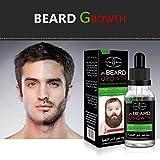 Barbe Croissance, Malloom Croissance de la barbe Hommes Liquide Amélioration rapide des moustaches faciales Nutrition Moustache Concours barbe (40ml, Clair)