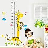 Hpsweet Kids Messlatte Wandaufkleber Wohnkultur Cartoon Giraffe Messlatte Home Decoration Room Decals Wandkunst Aufkleber Wallpape