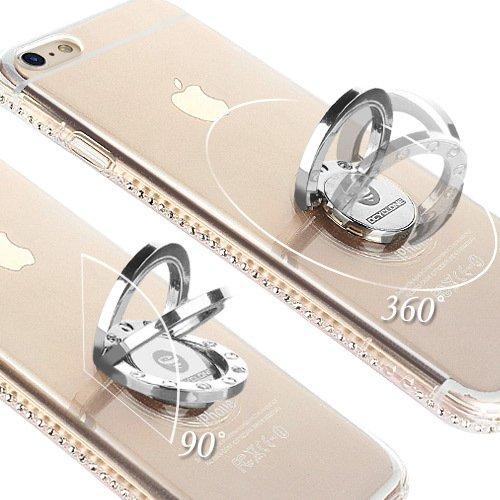 Cover iPhone 6 Plus/6S Plus Glitter Silicone per Ragazze,Kickstand Bling Diamante Brillante Cristallo Lucciante Luminosa Custodia Gel Case per iPhone 6 Plus/6S Plus, 5.5 inch (Trasparente) iPhone 6 Plus/6S Plus Trasparente