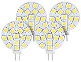 Luminea LED-Stift G4 Tageslicht: High-Power G4-LED-Stiftsockel mit SMD5050-LEDs, 3 W, neutral, 4er-Set (LED-Leuchten, tageslichtweiss)