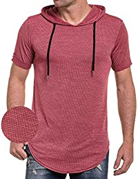 Celebry tees - Tee-shirt homme rouge oversize maille et capuche