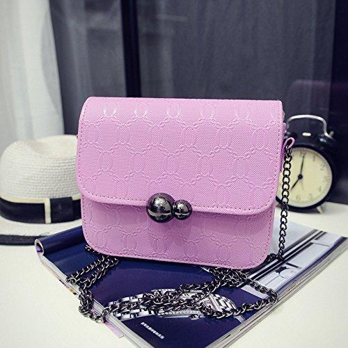Frau diagonalen Querschnitt der neuen Sommer Kürbis kleine Dame diagonal-Bag Umhängetasche Light purple