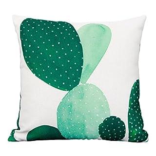 ANGGO Kissenhülle, Tropische Pflanzen Blumen Blätter Kissenbezug, Baumwolle, Leinen-Kissenhülle für Auto Zuhause 18x 18cm Color 2-1pcs