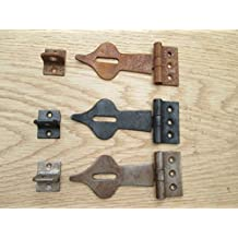 Ironmongery World® Old Vintage Spear Head decorativo puerta de seguridad con cierre y candado cerradura