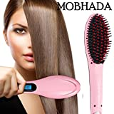 Mobhada Fast Hot Hair Straightener straightening And Curler 2 in 1 Comb Brush