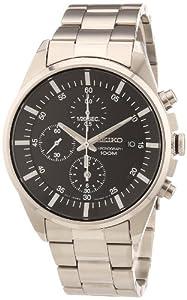 Reloj Seiko SNDC81P1 de caballero de cuarzo con correa de acero inoxidable plateada - sumergible a 100 metros de Seiko