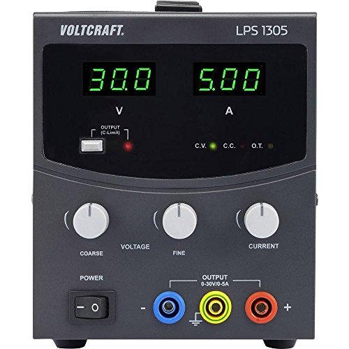 VOLTCRAFT LPS1305 Labornetzgerät, einstellbar 0-30 V/DC 0-5 A 150 W Anzahl Ausgänge 1 x -