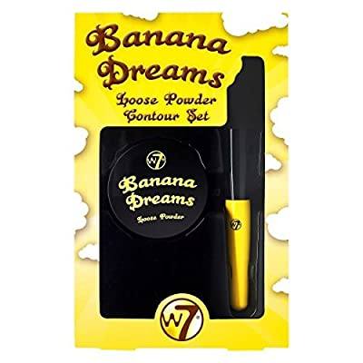 W7 Banana Dreams Loose Powder Contour Set with Brush by W7