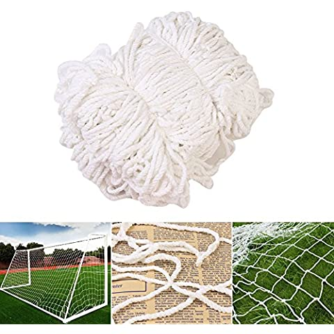 Redes de portería de fútbol para fútbol Goal Post, Entrenamiento de entrenamiento profesional junior de fútbol al aire libre 24 x 8 FT (Sólo redes, Post no incluido)