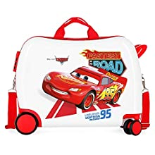 Disney Cars Good Mood Multicoloured Kids Rolling Suitcase 50 x 38 x 20 cm Rigid ABS Combination Lock 34 Litre 2.1 kg 4 Wheels Hand Luggage