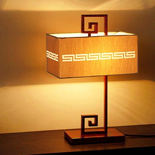 Neue chinesische Wohnzimmer Lampe Studie Lampe schmiedeeiserne antike moderne einfache LED warmes Licht Schlafzimmer Nachttischlampe A+ (Color : A#-33 * 49.5cm) (Antike Lampe Firma)