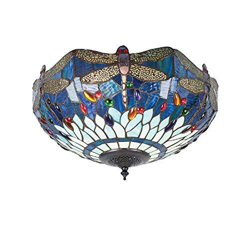 Flush Light - Glas im Tiffany-Stil von Happy Homewares