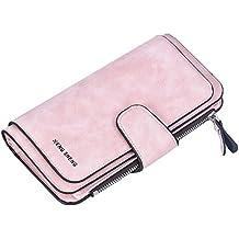 7c5533445a918 Damen Geldbörse Piebo Brieftasche Portemonnaie Lang Portmonee Elegant  Clutch Große Kapazität Handtasche Geldbeutel PU Leder Geldtasche