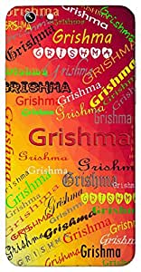 Grishma (Popular Girl Name) Name & Sign Printed All over customize & Personalized!! Protective back cover for your Smart Phone : Xiaomi MI Max