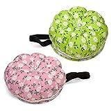 2 x Kürbis - Nadelkissen in grün und rosa mit