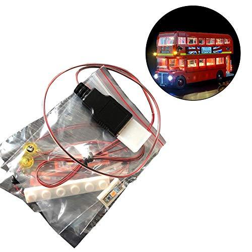 LED Beleuchtung Licht-Set für Lego London Bus 10258 Toy Bricks Building Blocks LED-Beleuchtungsset DIY Leuchtende Bausteine Zubehör (Modell Nicht Enthalten)