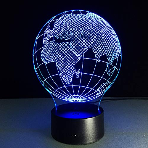 State Map 3D Lampe LED 7 Farbwechsel Nachtlichter Touch-Schalter USB Tischlampe Acryl Baby Schlaf Licht -