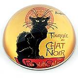 Parastone Movseion Collection Steinlen le chat noir Presse-papier en verre–Neuf I...