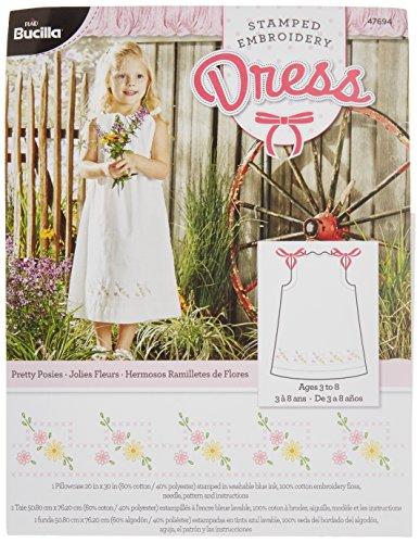 Bucilla Prägung Stickerei Kleid Kit, 20von 30, 47694Pretty Posies -