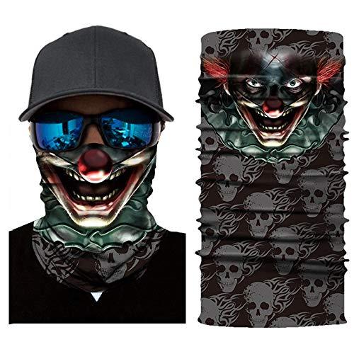 Xiang-bandanas 5 PCS Digitaldruck Clown Reiten Lokomotive Magie Handtuch Kopftuch Maske Männer Und Frauen Sport Sonnencreme (Color : AC499) - Sonnencreme, Handtuch