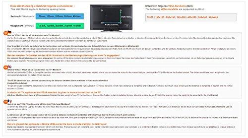 RICOO LCD TV Ständer Standfuss Glas Standfuß Halterung Neigbar FS0200 Schwenkbar Drehbar mit Rollen Höhenverstellbar LED Fernseher Stand Möbel Rack VESA 400×400 Universal inkl. DVD Receiver Glas Regal - 5