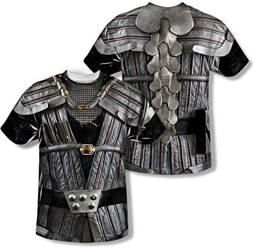 Star Trek - Herren Klingon Uniform (vorne / hinten Print) T-Shirt, XX-Large, White