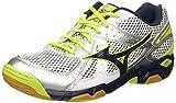 Mizuno  Wave Twister, Chaussures de Volleyball homme - Bianco (White/Dressblues/Limepunch) ,  44 1/2 EU ( 10 UK )