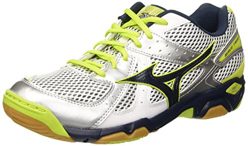 Mizuno Herren Wave Twister Volleyballschuhe Bianco (White/Dressblues/Limepunch)