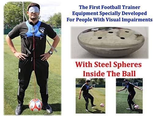 Llera SPort Fußballtrainer Kickausrüstung Blindtrainingsmethode Fußball-Trainingsgerät für Sehbehinderte
