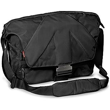 Manfrotto Stile Kollektion Unica V SLR-Kameratasche (Messenger, für DSLR mit Objektiv, Laptop bis 38,1 cm (15 Zoll), Zubehör) schwarz
