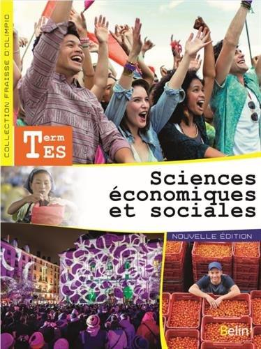 Sciences économiques et sociales Tle ES - livre de l'élève
