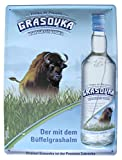 Grasovka - Bisongrass Vodka - Blechschild 39 x 29 cm