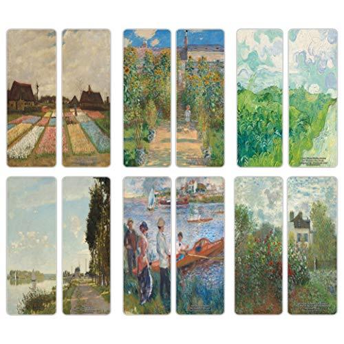 Creanoso Famous Classic Art Series 5segnalibri (60-pack)-Van Gogh, Claude Monet, Auguste Renoir-arte classica Inspiring Impressions-Great Bookmarker Collection per uomini, donne, ragazze, artisti