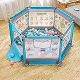 Laufgitter, Baby Laufstall, faltbarer Kompakt, eingebaute Bodenmatte, starker und haltbarer Spielstift (Farbe : D)