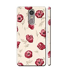 Clapcart Redmi Note 4 Designer Printed Mobile Back Cover Case For Xiaomi Redmi Note 4 - Multi Color (Vintage Rose Design)