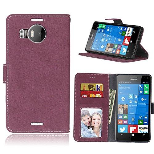 44b920ce8de pinlu® Funda Para Nokia Microsoft Lumia 950XL Alta Calidad Función de  plegado Flip Wallet Case