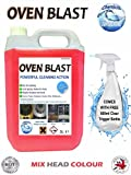 Heavy Duty Oven Cleaner 5L OVEN BLAST and 500ml Trigger Bottle with Foam Sprayer