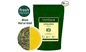 Tè verde in foglie dall'Himalaya (50 tazze), tè verde disintossicante per perdere peso, da piantagioni di alta quota. Ricco di antiossidanti.