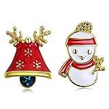 1 Paire Mignon Mode Bonhomme de Neige Arbre de Noël Noël Orignaux Boucles D'oreilles Les Femmes Cadeaux de Noël Et la Décoration (I)