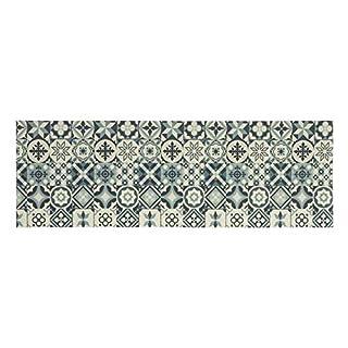 andiamo Küchenläufer Kitchen Teppichläufer aus PVC mit Glatter Oberfläche und Bunten Designs, Pflegeleicht, strapazierfähig und schadstoffgeprüft, Farbe:Grau, Größe:50 x 150 cm
