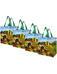 Earthwise Reusable Grocery Bag Shopping Tote ( Set Of 4 )