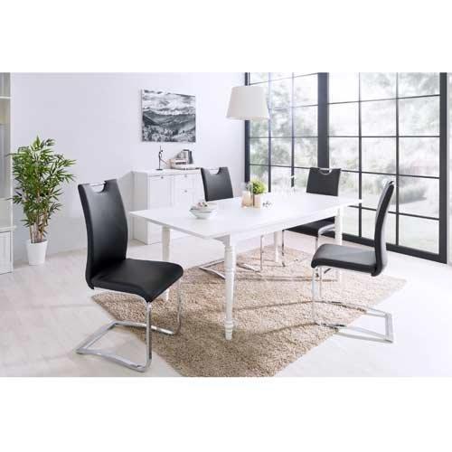 Kommode in weiß, mit 3 Schubkästen, hochwertige Rahmenfronten, Metallknöpfe im Vintage-Look, Maße: B/H/T ca. 80/90/45 cm - 6