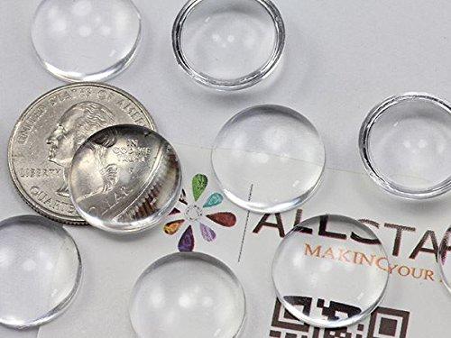 18 mm acrylique transparent rond Cab Haute Qualité Pro-Grade Pack Bulk 300 pièces