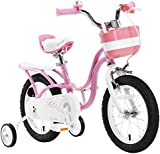 """ROYAL BABY LITTLE SWAN PINK GIRL'S BIKES IN SIZE 12"""" 14"""" 16"""" 18""""+ Adjustable removable stabilisers+bell."""