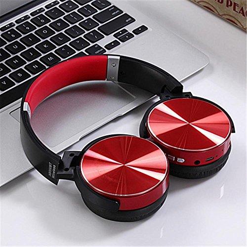 Cuffie stereo bluetooth 4.2, senza fili, pieghevoli, portatili, lettore mp3, per apple macbook pro air, iphone, ipad, samsung, wiko, nokia, pc, tablet, ecc.