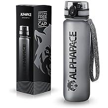 ALPHAPACE Sport Trinkflasche 1000ml – LFGB zertifiziert, BPA frei und auslaufsicher – Premium Sportflasche aus Tritan – ideal für Sport, Schule, Reisen, Outdoor und Freizeit – 100% Zufriedenheitsversprechen