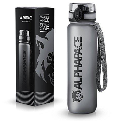 ALPHAPACE ® Sport Trinkflasche 1000ml und 650ml – getestet BPA frei und auslaufsicher – Premium Sportflasche – für Sport, Schule, Reisen, Outdoor und Freizeit – 100% Zufriedenheitsversprechen